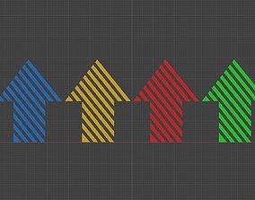 3D model Low poly arrow 53