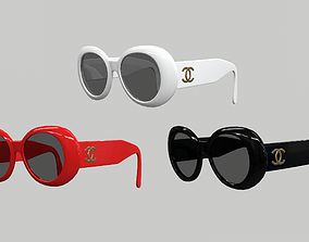 Chanel Sunglasses Eye Wear 3D model realtime