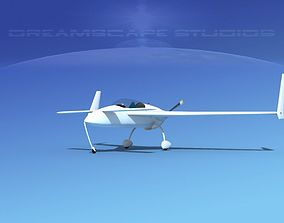 3D model Rutan VariEze White Livery