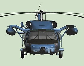 3D Japan Air Self-Defense Force UH-60J Rescue helicopter