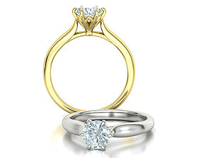 Solitaire Engagement Ring 1CT stone printable 3dmodel