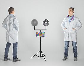 3D model Adult male medical doctor 157