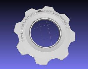 Gears Of War Gear Pendant Printable Model