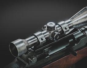 3D model VR / AR ready M14 Battle Rifle