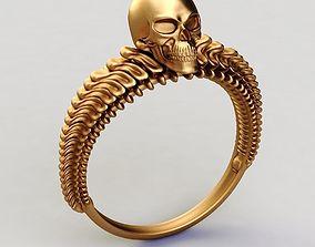3D printable model rings Ring skull