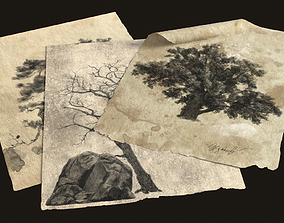 Old Charcoal Pictures 3D model