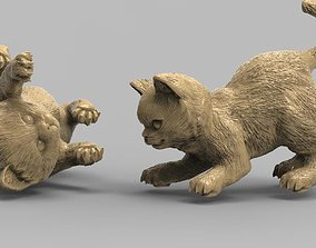 kitten cats animals 3D print model