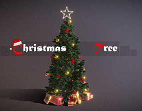 3D model Christmas Tree Game Ready