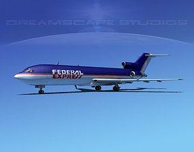 3D Boeing 727-200 FedEx 1