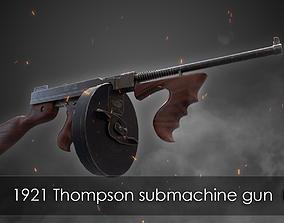 1921 Thompson submachine gun 3D asset