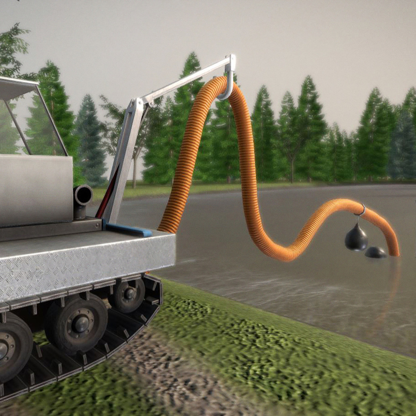 Desludging Robot in Action