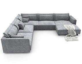 172-Sofa natuzzi LongBeach 2911 4 3D model