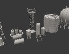 Storage Tanks Pack 3D asset