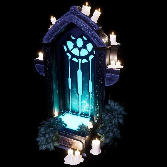 Mystical Fountain - Semi Stylized Asset