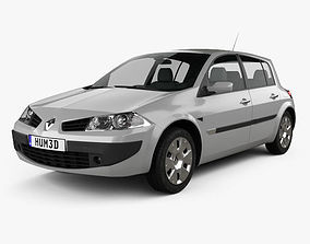 3D model Renault Megane 5-door hatchback 2006