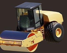 road construction vehicle vibratory contractor 3D model