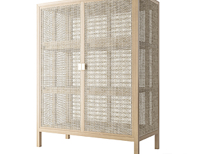 3D rattan Ikea stockholm wicker chest of drawer