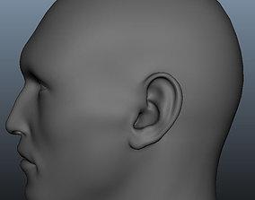 3D model head Geometry MultiUV