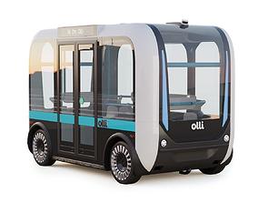 3D model lidar Driverless Bus Local Motors Olli