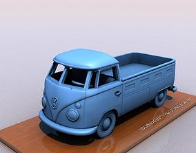 3D print model VOLKSWAGEN T1 SINGLE CABINE 1962