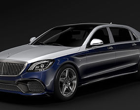 3D model Mercedes AMG Maybach S 65 X222 2019