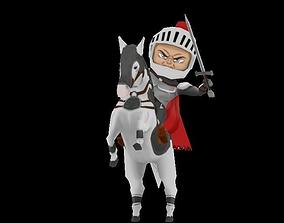 3D asset knight horseman