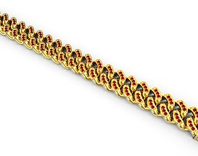 Cuban Link Chain Bracelet Miami 3D printable model 4