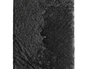 Gray short pile rug 3D model