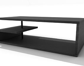 3D model G-Shaped Wooden Coffee Table