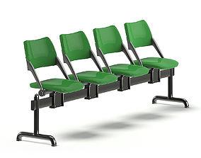 Green Waiting Chairs 3D
