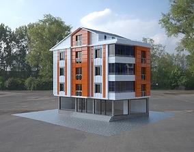 3D 4 storey building