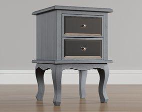 3D nightstand Nightstand silver
