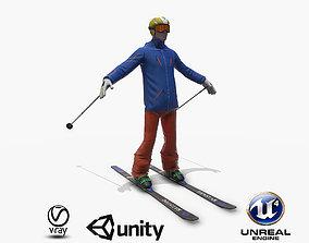 Skiers 3D model