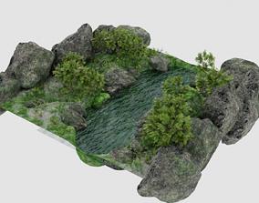 Pond Scene 3D model