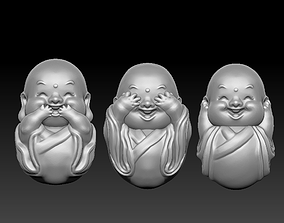 3D print model Little monks
