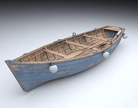 3D asset realtime PBR Old Boat