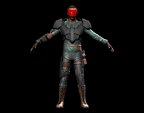 3D asset Space Mercenary