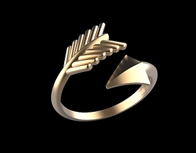 gold 3D printable model Falang ring