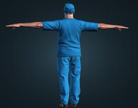 VR / AR ready Detailed surgeon model