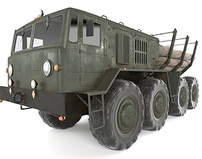 3D model Maz 537 Timber Carrier