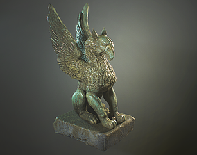 Griffin Statue - Lowpoly Ingame model 3D asset