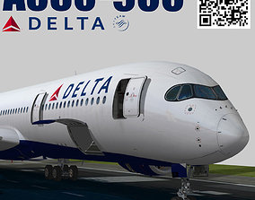 3D model Airbus A350-900 XWB Delta airlnes Ext 1
