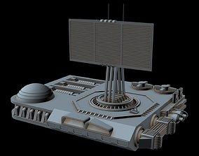 Sci-fi Radar station 1 3D