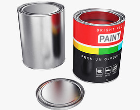 container 3D model Paint can