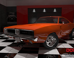 3D model realtime Dodge Charger RT 1969