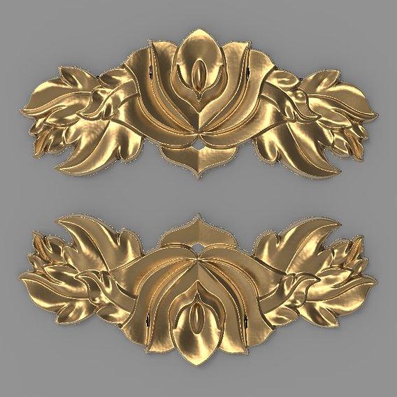 Floral Wood Carving for Furniture - 3