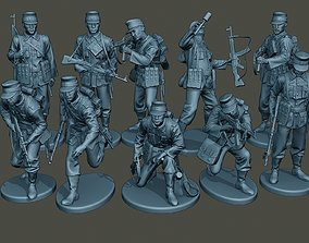 German soldiers ww2 G3 Pack1 3D model