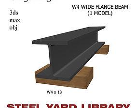 3D W4 Wide Flange Beam