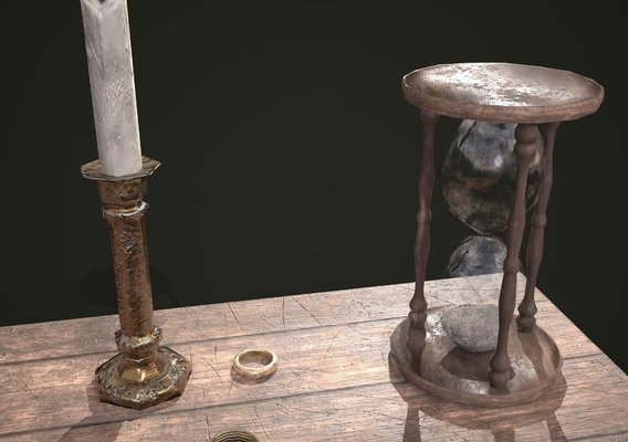 Medieval candle scene