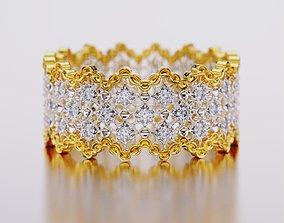 3D printable model engagem diamond ring
